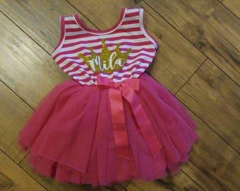 Fuchsia Personalized Princess Dress