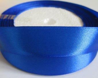 10 m 20mm dark blue colored satin ribbon