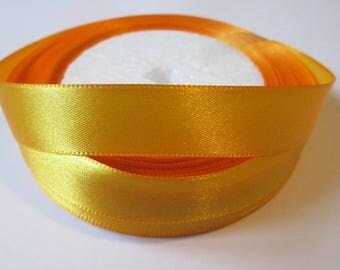 10 m 16mm orange satin ribbon