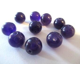 10 pearls dark purple natural jade 1 8mm (3)