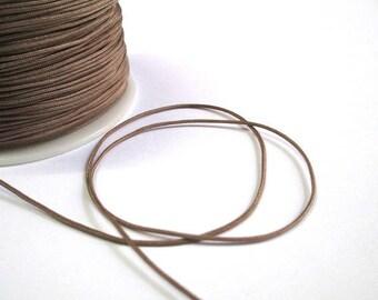10 m taupe nylon thread woven 1 mm