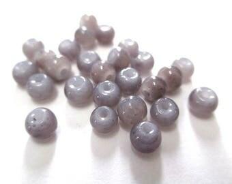 50 silver imitation jade 4mm gray color (A-29)