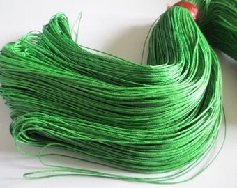 5 Metters green waxed cotton thread 1 mm