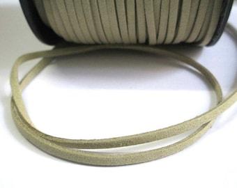 1 m look beige suede 3 mm suede cord