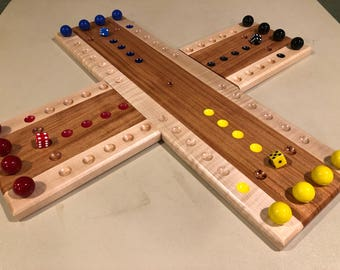 Handcrafted Two Piece Aggravation Game Board