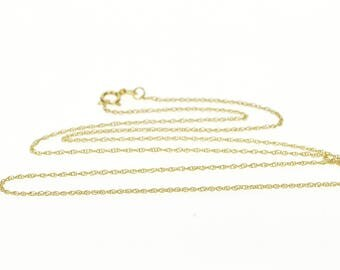 """14k 0.9mm Rolling Cable Link Chain Necklace Gold 18"""""""
