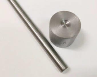 6mm or 9mm Rivet Setting Set including a Setter and Anvil (Base) for Double Cap Rivets. Australian Seller+Fast Post