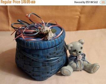 Blue Trinket Box and Bear