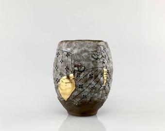 Handmade Ceramic Floral TeaBowl