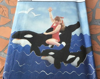 Vintage Simplicity Sewing Pattern 8670 Large And Small Stuffed Whales Plush Stuffy Killer Whale Orca Toy Plush UNCUT New FF