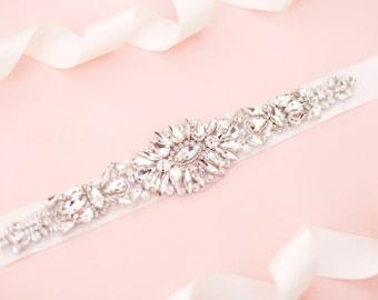 Bridal belt - bridal sash - wedding belt - wedding sash - rhinestone belt - rhinestone sash - crystal sash - bridal sashes and belts