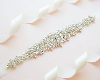 Bridal belt - wedding belt - bridal sash - wedding sash - rhinestone sash - crystal sash - rhinestone bridal belt - bridal sashes and belts