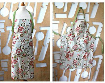 Cotton apron Kitchen Apron Christmas gifts for her Floral Traditional Cooking Apron Eco Friendly Gift for her Pinafore Hostess Full Apron