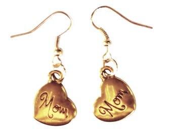 Heart of Gold Mom Earrings