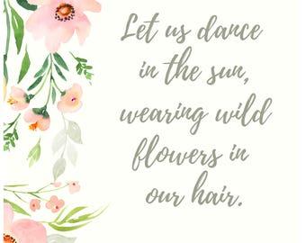 Wildflower poster - Instant download