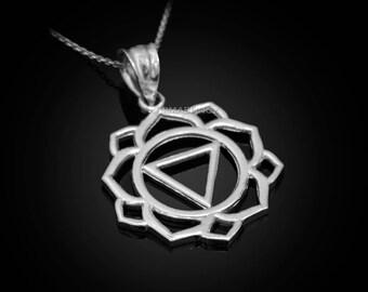 Sterling Silver Manipura (Confidence) Chakra Yoga Pendant Necklace