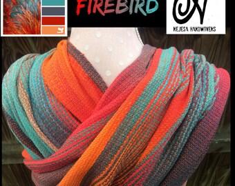 "4m ""Firebird"" HANDWOVEN hand dyed babywrap babywearing woven wrap"
