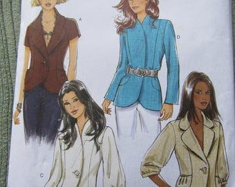 JACKETS Misses Easy Butterick 5469 Sizes 14-20 VESTE Fabric Sewing Pattern NEW Factory Folded Facile Semi-Fitted Jackets with variations