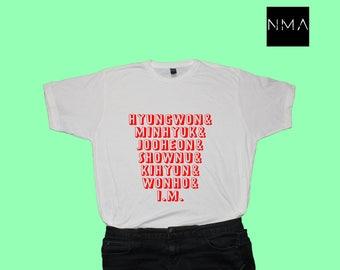 MONSTA X Members K-pop Shirt