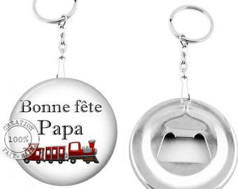 Keychain bottle opener-happy birthday dad-personalized gift Message-