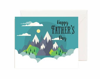 "Mountain Scene ""Happy Father's Day"" Greeting Card"
