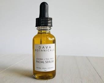 Moisturizing Facial Serum ~ jojoba face oil, anti aging face serum for oily or dry skin