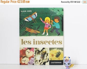 SALE Vintage Childrens Book. French Book. Les insectes. Alain Grée. Color Illustration. Nursery Decor. French Vintage. Gift For Kids. Baby S