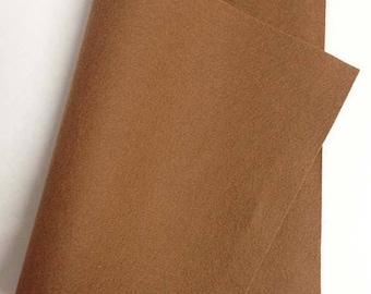 "SALE Save 15% 8"" x 12"" Latte 100 Percent Merino Felt Sheet"