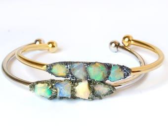Raw Opal Jewelry, Opal Bracelets, Opal Jewelry, October Birthstone, October Opal, Birthday Gift for October, Opal Birthstone Gift