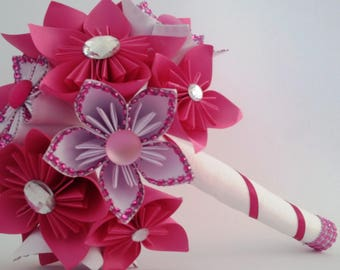 bouquet of origami kusudama (lingerie, rhinestone)
