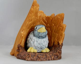 Woodland Surprises - Bluebird, Jacqueline B. Smith, Artist, Franklin Porcelain (1984), Bluebird Figurine