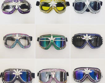On SALE!Burning Man Goggles, Aviator goggles.Anti-Dust Goggles.rave wear,motorcycle goggles . Pick one you like !