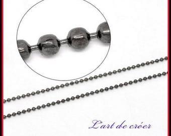 10 meters string beads balls Metal gunmetal - 1.5 mm mm