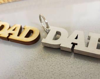 Chunky Dad Great Birthday Or Fathers Day Handmade Gift Keyring Keyfob Present