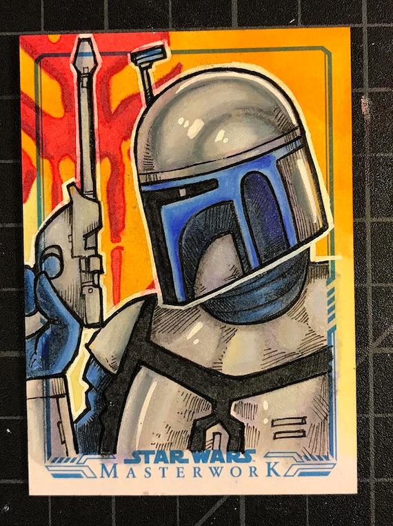 Star Wars Masterwork Original Artist Sketch Card: Jango Fett