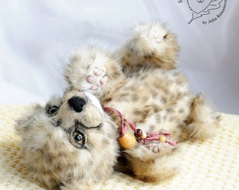 RESERVED realistic Cheetah cub Teddy Bear friend wild cat OOAK Cheetah cub Duma
