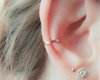 SALE - Rose Gold Ear Cuff No Piercing- Ear Wrap- Earcuff- Ear Cuff Non Pierced- Ear Cuff Earring-Wide Ear Cuff-Thick Ear Cuff