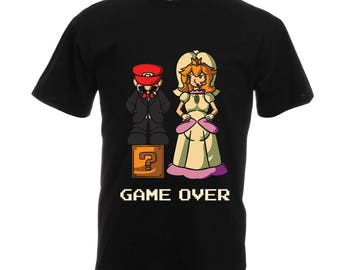 Engagement Shirt, Gamer Dad Shirt, Gaming Party Shirt, Game Over Shirt, Funny Groom T-shirt, Bachelor Party Shirt,  4441