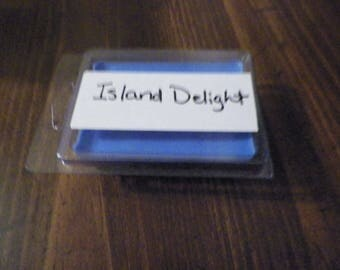 Homemade soy wax clamshell break away tart melt 6pk scented Island Delight