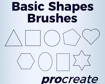 Basic Shapes Brushes - Procreate