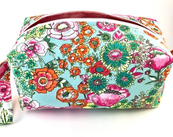 Secret Garden Cosmetic Bag, Makeup Bag, Travel Bag, Box Pouch