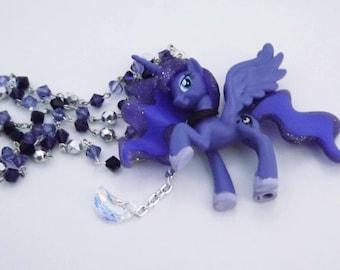 My Little Pony Princess Luna Swarovski Crystal kawaii necklace pony cosplay jewelry