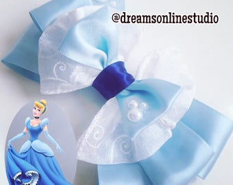 Cinderella Inspired Bow Headband Hair Clip