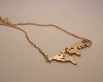 Worldly Wonders Map Necklace
