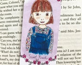 ON SALE Literary bookmark - Scout Finch - Literary Gift - purple