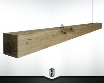 Origin oak pendant lamp made of 100cm solid wood