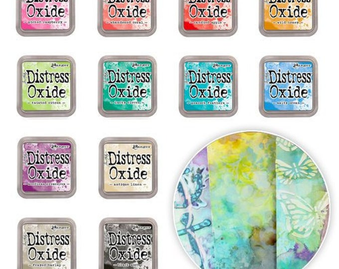 Featured listing image: Tim Holtz Distress Oxide Ink Pads 3x3 12 Colors Set #2