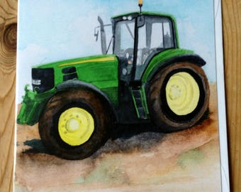 john deere greetings card