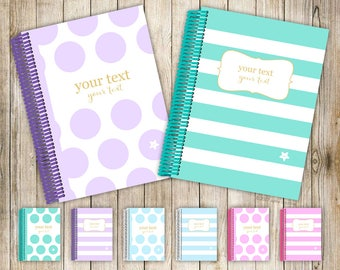 My Fancypants Notebook: Spots & Stripes collection (Handmade personalised notebook)