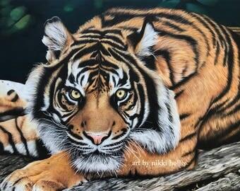 Remember Me - Tiger - Print